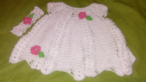 crochet vestido. algodon