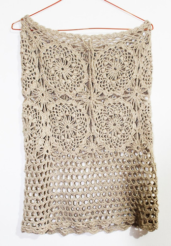 crochetchile, falda playa tejida crochet, talla m