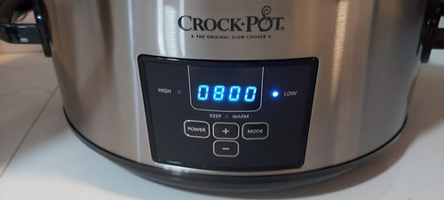crock pot olla de coccion lenta electrica digital timer 7 qt