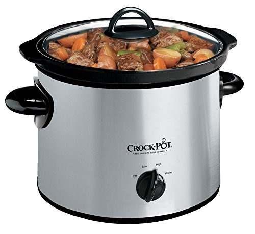 crock-pot scr300ss de 3 cuartos redonda cocina manual lento