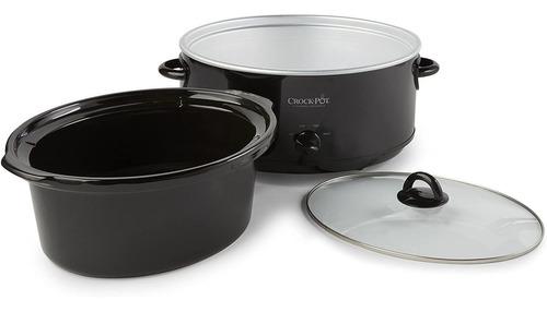 crock-pot scv800-b, coccion lenta manual ovalada de 8 cuarto