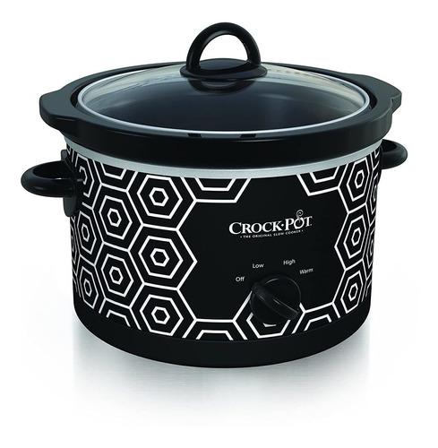 crockpot - olla redonda lenta, 4,5 cuartos, patron blanco y