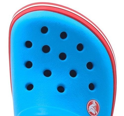 crocs crocband niños -ocean red-