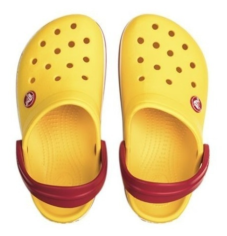 crocs crocband originales kids yellow red