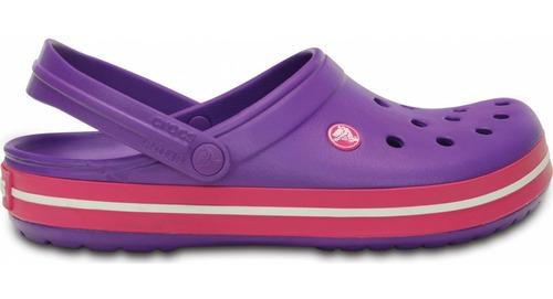 crocs crocband originales neon purple violeta mujer hombre