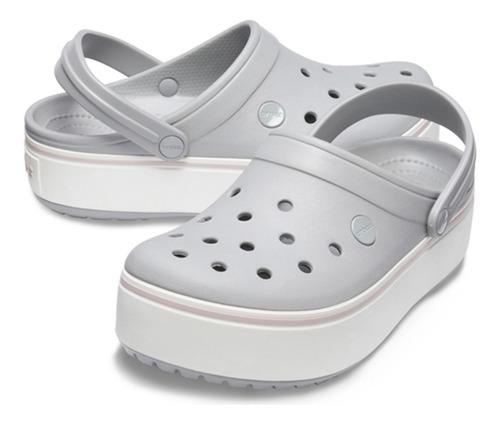 crocs crocband platform clog gris - crocs uruguay