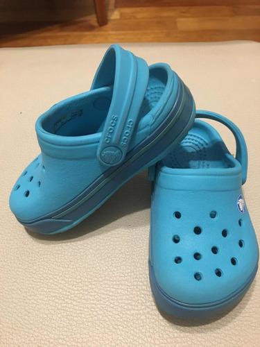 crocs importadas originales turquesa para niñ@