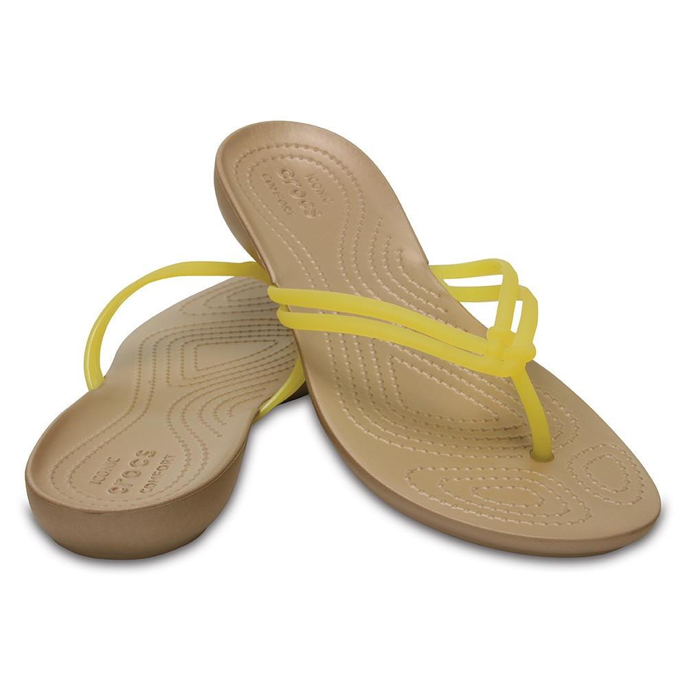 3e4bd003bea Crocs Isabella Flip Lemon gold -   29.990 en Mercado Libre