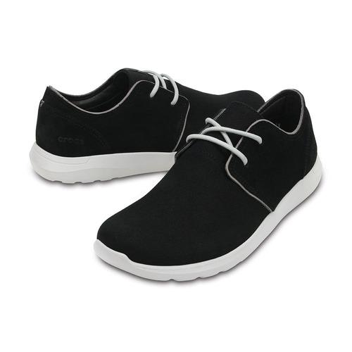 crocs kinsale 2-eye shoe black/pearl white