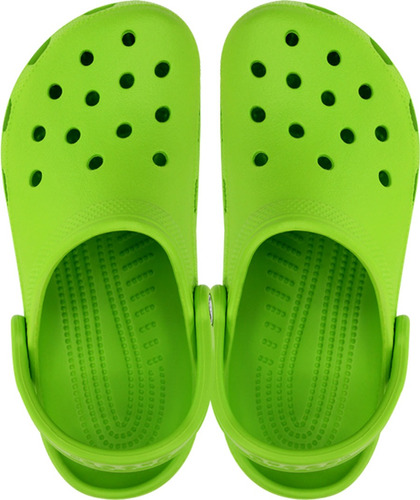 crocs originales classic verde  mujer
