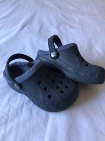 venta online varios colores presentación Crocs Originales Con Piel Color Azul Talle 27/28 #20