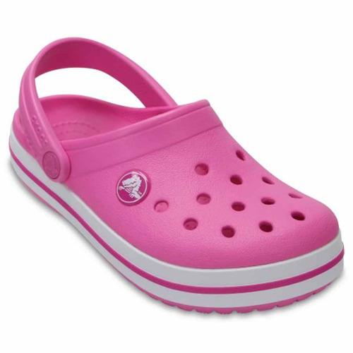 crocs originales crocband kids rosa niñas 6u9