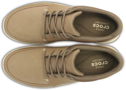crocs originales crocs kinsale lace-up beige hombre 2g6
