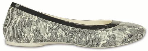 crocs originales lina shiny flat oyster-black