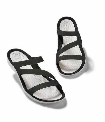 crocs originales swiftwater sandal w negro mujer 066