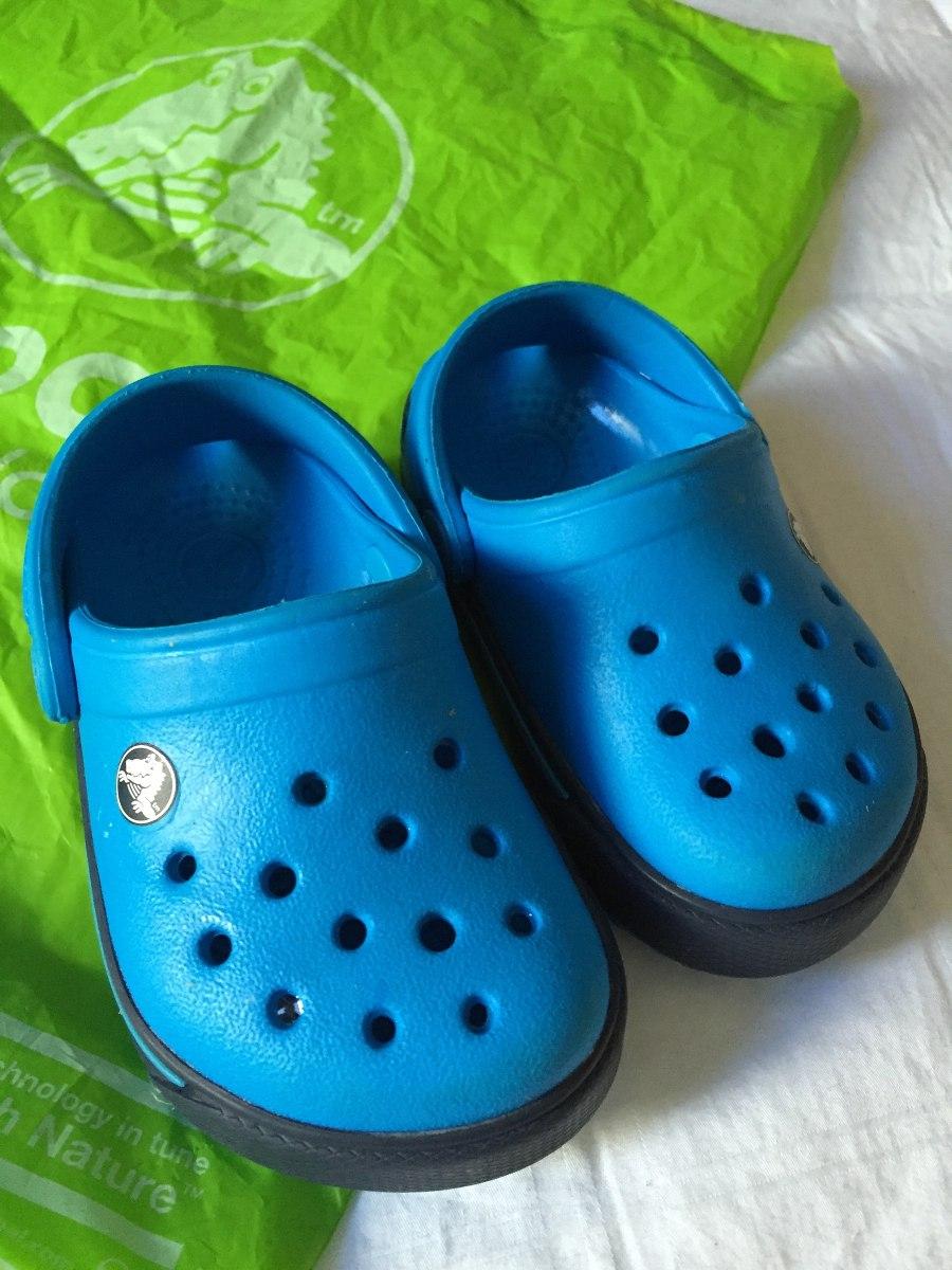 nueva llegada 31143 93d12 Crocs Para Bebe Talla 4-5 Nuevos Originales Color Azul