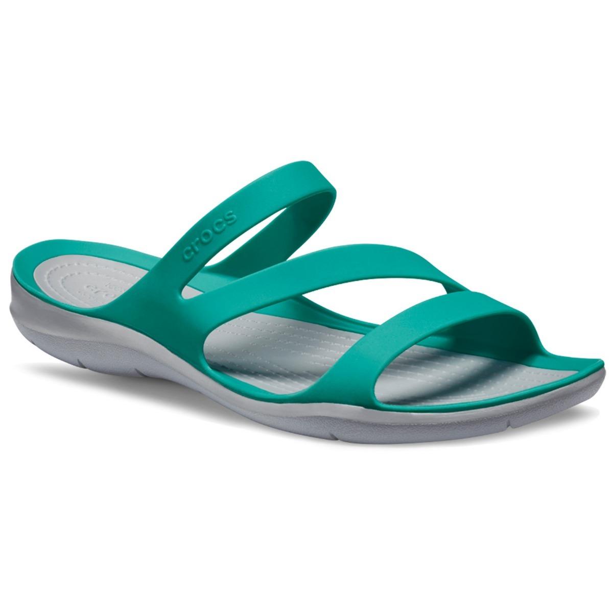 00 Swifwater Gris1 Mujer Sandal Crocs W 085 Verde Con Sandalia dxBreWCo