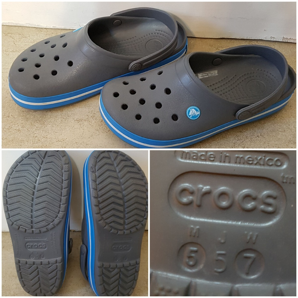 913e089b809 crocs sandalia nueva!! t37 crocband charcoal ocean. Cargando zoom.