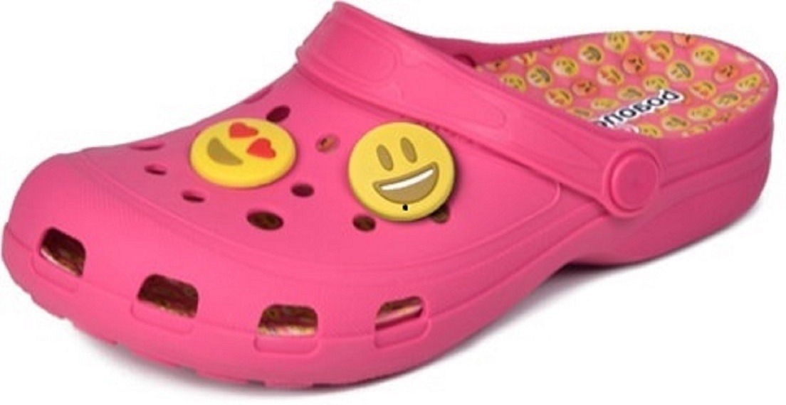 dff68553d crocs sandália rasteira chinelo infantil preto emoji confort. Carregando  zoom.