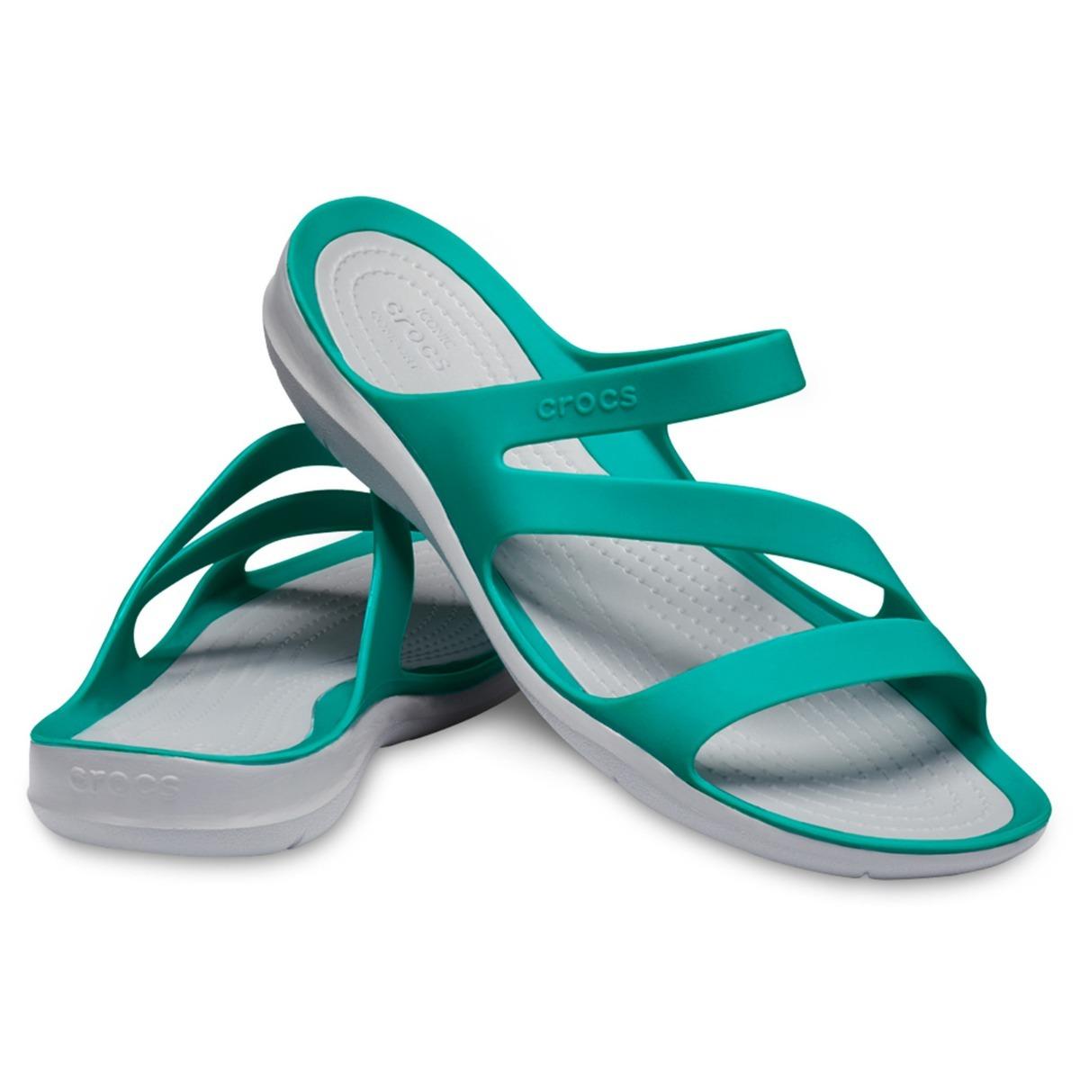 936efe01e43 crocs sandalia swifwater sandal w tropical teal light grey. Cargando zoom.