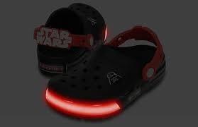 crocs starwars con luces varios tamanos