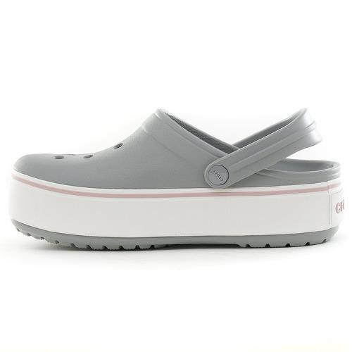 crocs sueco crocband plataforma grey fluid tienda oficial