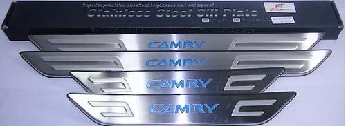 cromado platinas entre puertas con led toyota camry 2007-up