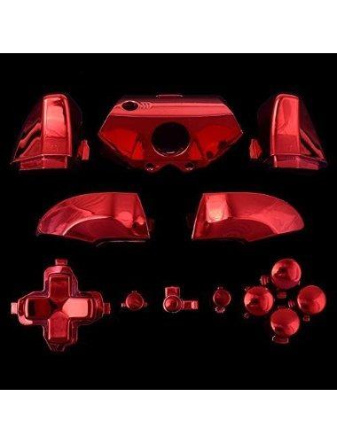 cromo rojo abxy dpad dispara botones conjunto completo kits