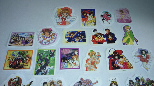 cromos de anime, sakura card captor, love hina.