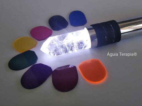 cromoterapia bastão cobre cromado cristal quartzo legítimo