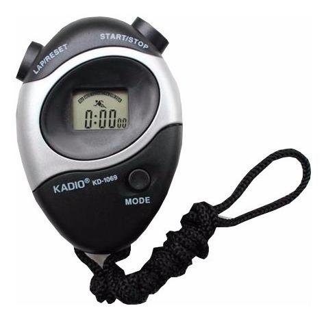 cronômetro digital com relógio e data e alarme kadio