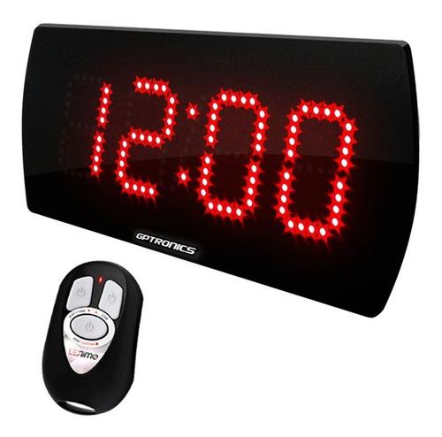 cronômetro digital de leds para estúdio de gravação 28x14 cm
