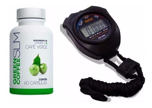 cronômetro + green coffee slim emagreça e marque o tempo