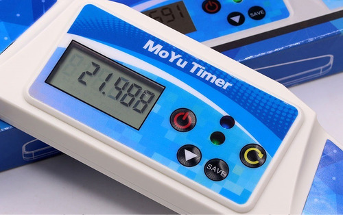cronômetro moyu para cubo mágico timer branco 0.000