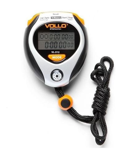 cronômetro profissional vollo vl-512 c/10 memórias e bússola