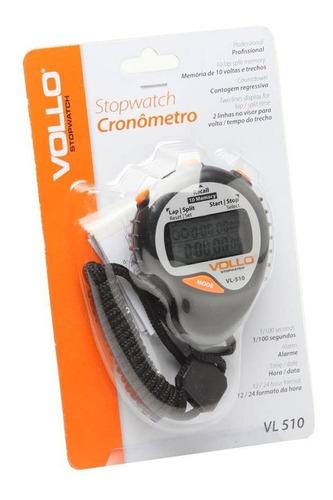 cronômetro progressivo -vollo - vl510 - 10 memórias