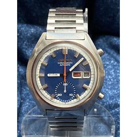 Cronógrafo Crono Automático Seiko Calibre 6139 Revisado Azul