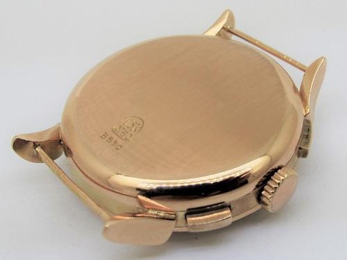 cronógrafo election ouro sólido 18k valjoux 22 o maravilhoso