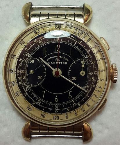 cronografo valjoux 22 asas moviles dial original muy inusual