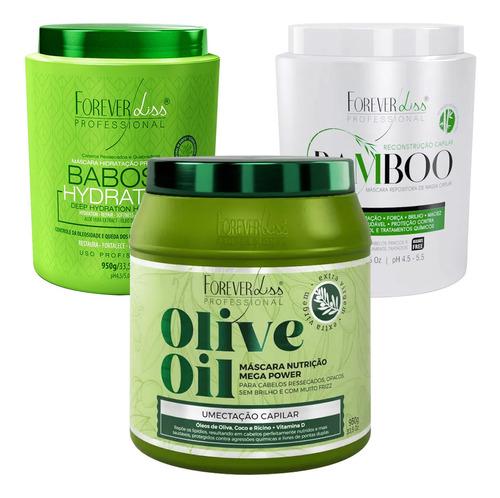 cronograma forever liss mascara de bamboo olive oil e babosa