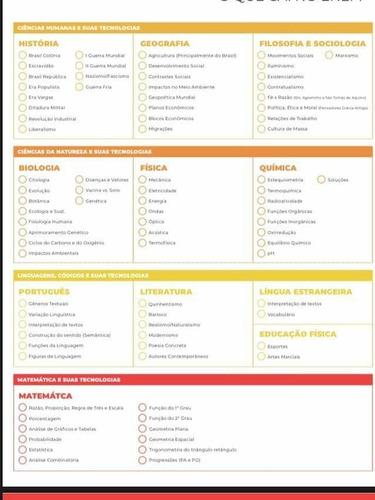 cronogramas e lista de matérias pré-vestibular