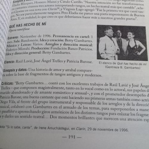 cronología del teatro musical en buenos aires. (1980-2013)