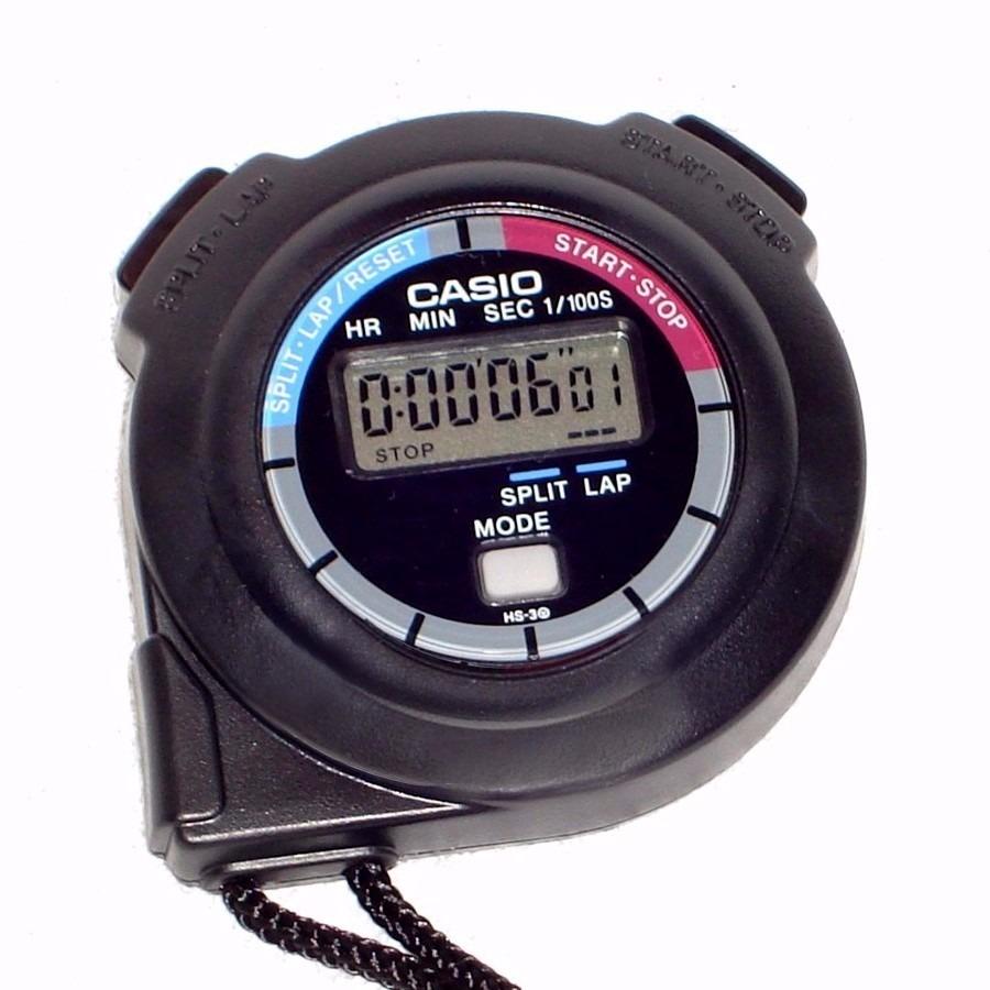 84ad5d0600 Cronometro Casio Hs-3 Digital Profissional Lap Split Wr - R  135