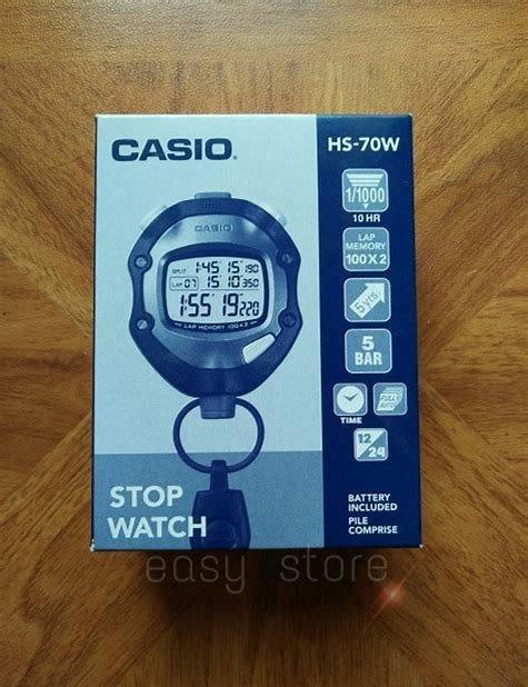 69e13ff5a853 Cronometro Casio Hs-70w Lap Memory 100x2 Sumergible 5 Bar -   4.299 ...