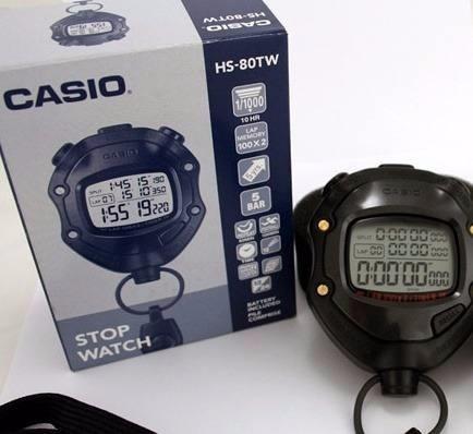 cronómetro casio hs 80tw para arbitraje 12 alarmas