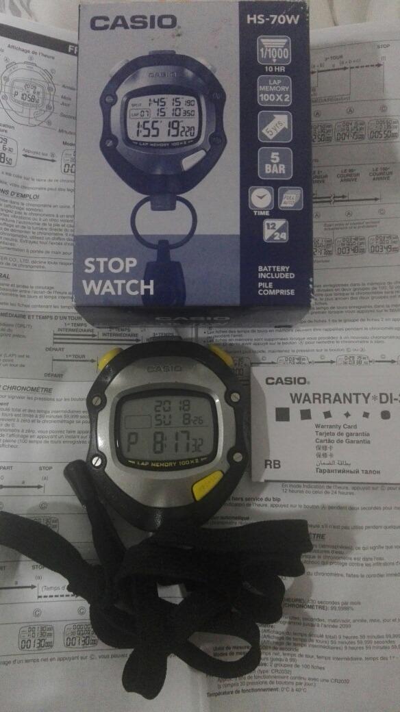 5664e9be9da7 Cronometro Casio Hs70w -   100.000 en Mercado Libre