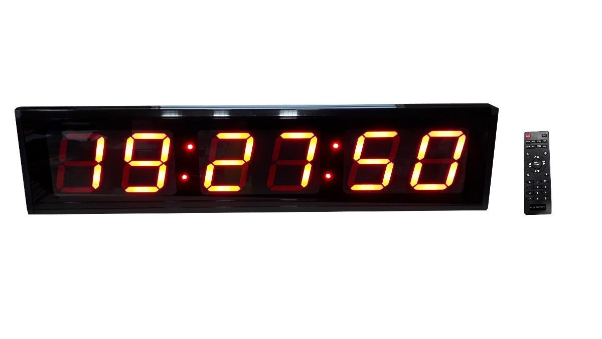 db4c5ed81 Cronometro De Parede Para Academia Esportes Diversos-68x19 - R  449 ...