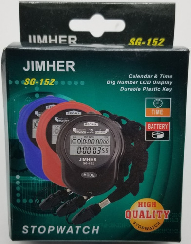 cronometro deportivo digital 10 memorias sg-152 full