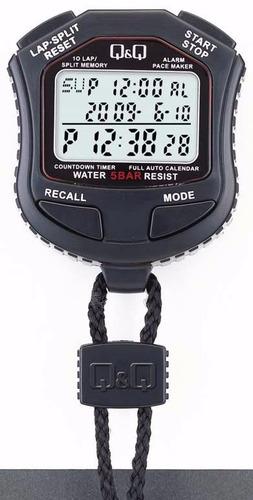 cronometro qyq hs-45 vuelta alarma 10 memo resistente agua
