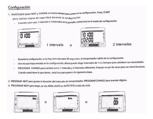 cronometro timer reloj digital training crossfit - gymtonic